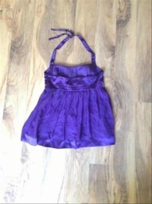 Bebe Purple Halter Top