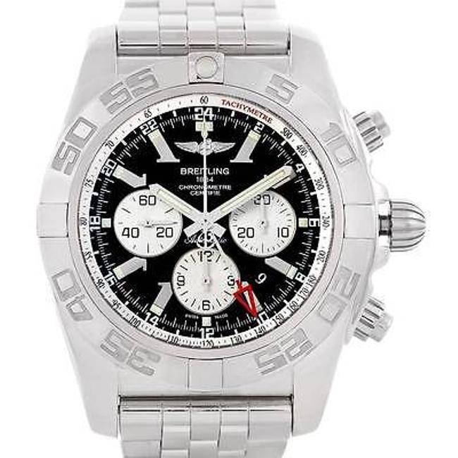 Breitling Black Chronomat Gmt Steel Mens Ab0410 Watch Breitling Black Chronomat Gmt Steel Mens Ab0410 Watch Image 1