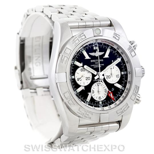 Breitling Breitling Chronomat Gmt Steel Mens Watch AB0410 Image 9