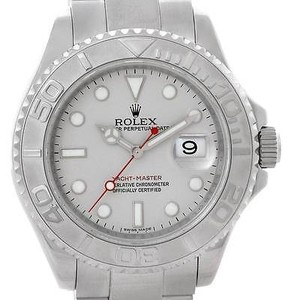 Rolex Rolex Yachtmaster Mens Steel Platinum Watch 16622