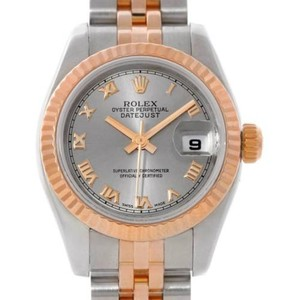 Rolex Rolex Datejust Ladies Steel 18k Rose Gold Watch 179171