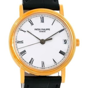 Patek Philippe Patek Philippe Calatrava 18k Yellow Gold Hobnail Bezel Watch 3802