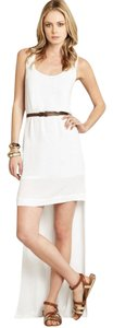 White Maxi Dress by BCBGeneration Maxi High Low Summer Sundress