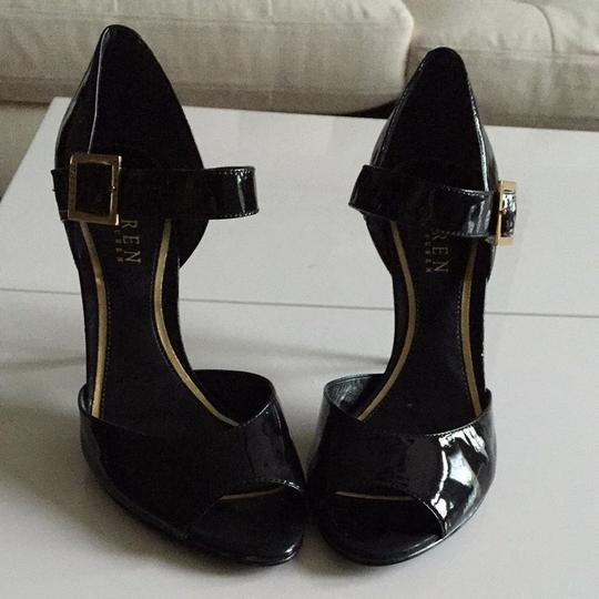 Ralph Lauren Black Patent Pumps