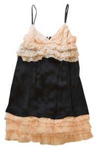DG Dolce & Gabbana Silk Cocktail Party Ruffles Spaghetti Straps Sleeveless Dress