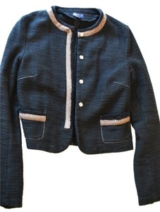 American Eagle Outfitters Tweed Navy Jacket