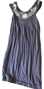 BCBGMAXAZRIA short dress Blue Knit Sleeveless on Tradesy