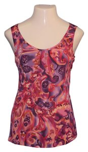 Coldwater Creek Top Multi-Color, Purple, Pink, Red, Orange