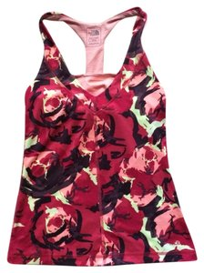The North Face Tadasana Abstract Floral Racerback Shelf Bra Tank