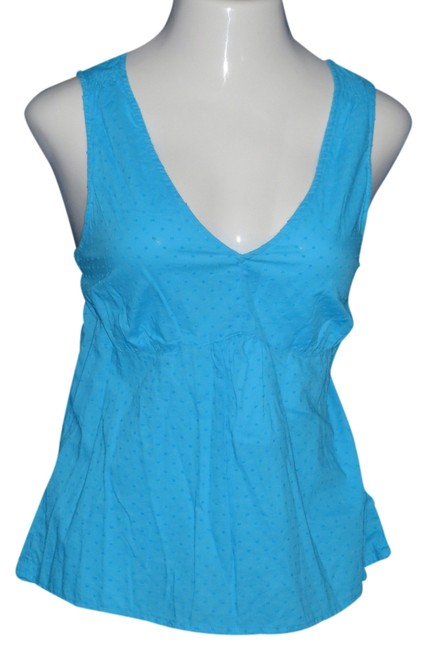 Talbots Top Turquoise Blue
