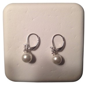 Macy's Sterling Silver And Freshwater Pearl Earrings