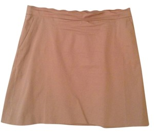 Brooks Brothers Mini Skirt Tan