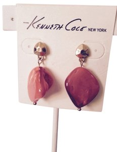 Kenneth Cole Kenneth Cole Orange Organic Shell Gold-Tone Dangle Earrings Only! Matching Pieces Sold Seperately.