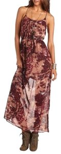 Multi Colored Feather Maxi Dress by Charlotte Russe