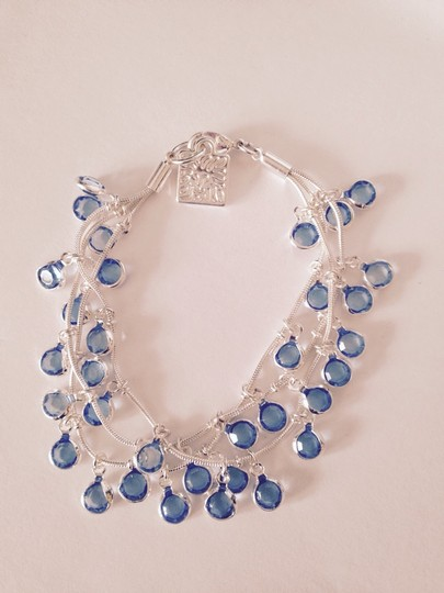 Anne Klein Anne Klein Aquamarine Faceted Stone Silver-Tone Necklace Only! Matching Pieces Sold Seperately.
