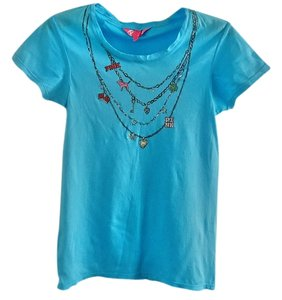 Victoria's Secret Embellished Sparkle T Shirt turquoise