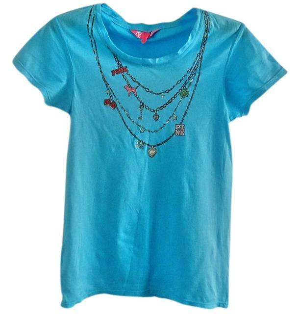 Preload https://item5.tradesy.com/images/victoria-s-secret-turquoise-embellished-sparkle-tee-shirt-size-6-s-3184054-0-0.jpg?width=400&height=650