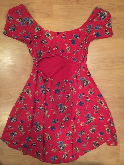 Urban Outfitters short dress Red Floral on Tradesy
