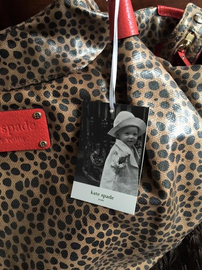 Kate Spade Red and brown Diaper Bag