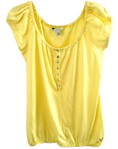 American Eagle Outfitters Flowy Elastic Top sun-yellow