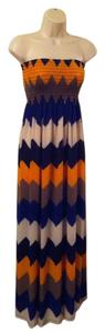Multicolor Maxi Dress by A'GACI