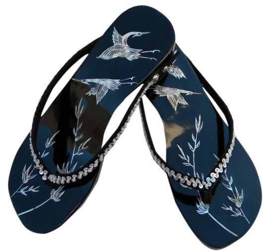 Preload https://item1.tradesy.com/images/asian-hand-crafted-black-sandals-3185935-0-0.jpg?width=440&height=440