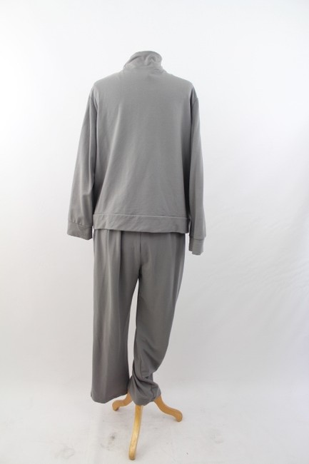 Other Woman Plus Size Sequined Grey Cotton Athletic Running Suit