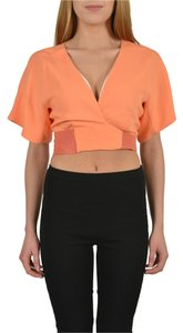 Just Cavalli Orange Halter Top