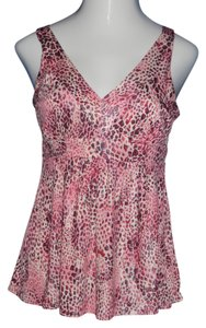 INC International Concepts Top Pink, Animal Print