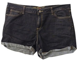 Arizona Jean Company Cuffed Shorts Blue Denim