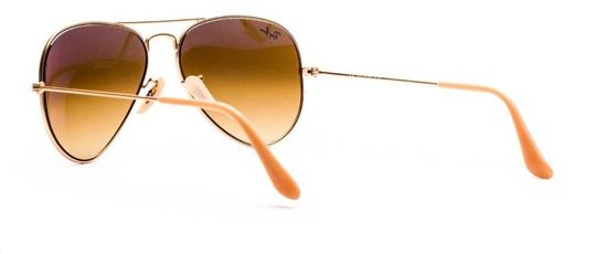 livelifefashion Ray Ban RB 3025 Metal Aviator 112/85 Matte Gold Sunglasses Brown Gradient 58mm