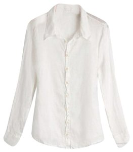 CP Shades Button Down Shirt Silk/Cotton White