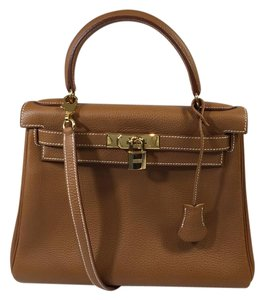 Hermès Clemence Leather Kelly Retourne Satchel