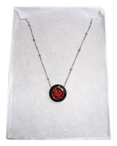 Other BIG SALE! 14K White Gold Garnet Pendant Necklace
