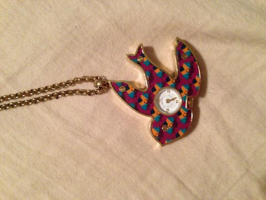 Marc Jacobs Marc Jacobs Double sided Clock Necklace