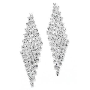 Mariell Silver Classic Wholesale Rhinestone 3469e Earrings