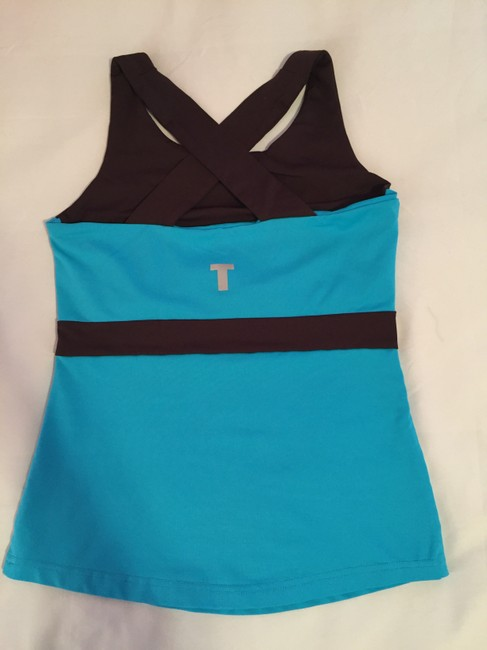 Other Blue and Brown Cross-Back Athletic Top