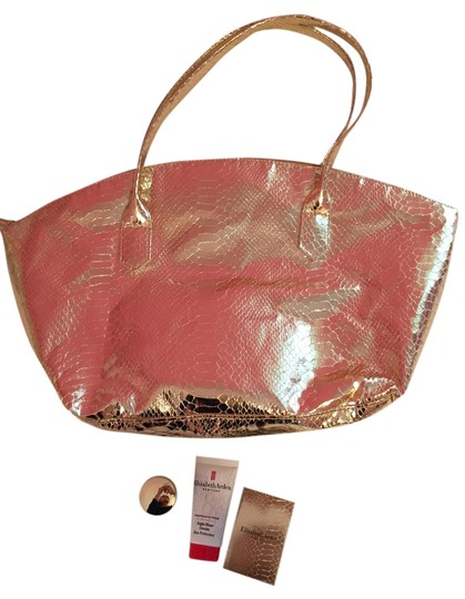 Elizabeth Arden Gift Set Gift Set Make Up Activation Cream Intense Moisture And Renewal Bronzing Powder Duo Bronze Beauty Eight Hour Tote in Gold