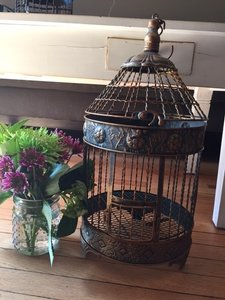 Vintage Bird Cage Decor