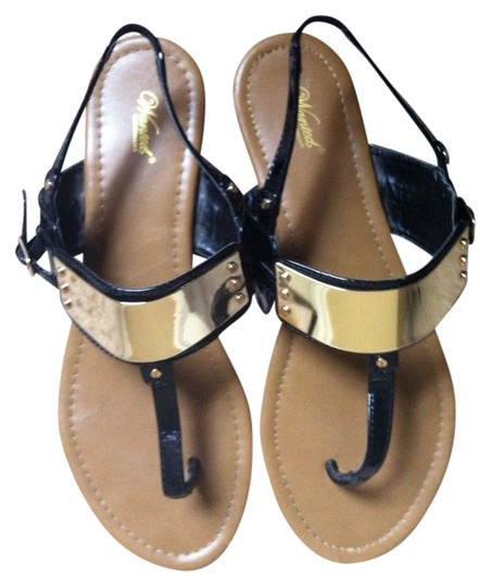 Wanted Black with Gold Sandals