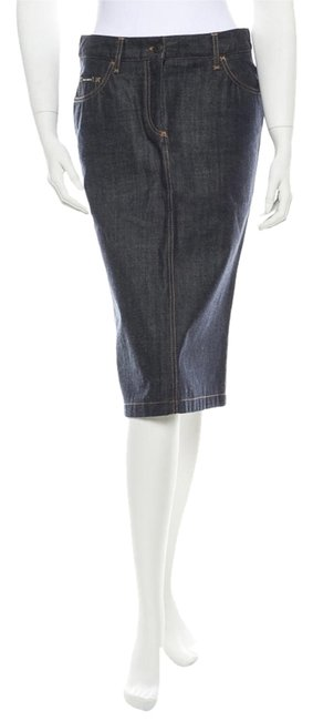Dolce&Gabbana Denim D&g Dolce & Gabbana 44 Medium 6 8 Pencil Skirt Blue