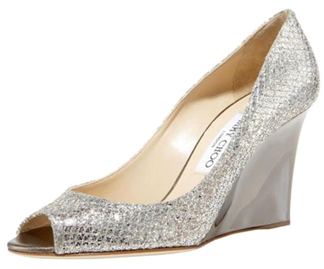 Item - Champagne Baxen Glittered Wedge Pump Formal Shoes Size US 8 Regular (M, B)