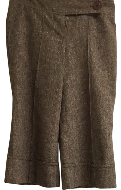 Item - Brown with Multi Specks Mostly Gold Capris Size 8 (M, 29, 30)