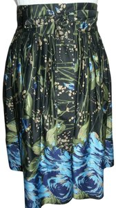 Ann Taylor LOFT Skirt Black/Blue/Green