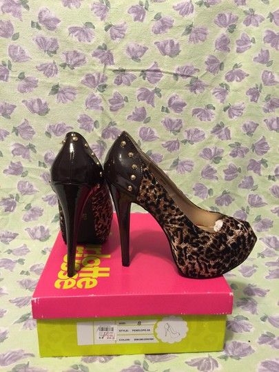 Charlotte Russe Brown Combo Leopard Fabric Pumps
