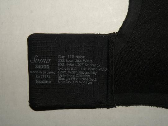Soma Intimates SOMA Bra 34DDD Black Flat Back Very Nice! Priced to sell
