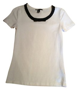 Forever 21 Cute Top Off white with Black detail