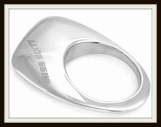 Miss Sixty Miss Sixty Stainless Steel Logo Ring From Italy Size 5