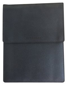Burberry Burberry Grained Leather iPad Tablet Sleeve/Case in Navy Blue