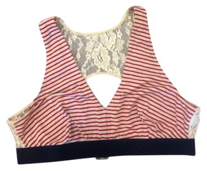 Only Hearts Top red & white striped